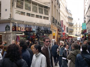 Shopping Street in Paris, France.